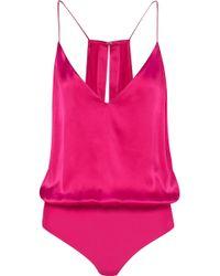 Cami NYC - The Lisa Silk-charmeuse Bodysuit - Lyst