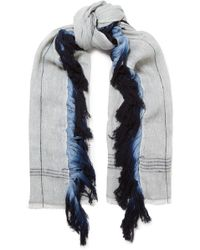 Melt - Fringed Wool And Linen-blend Scarf - Lyst