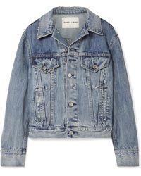 Sandy Liang - Wells Oversized Embellished Denim Jacket - Lyst