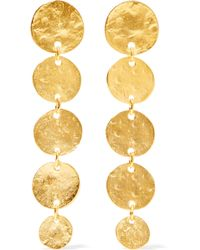 Kenneth Jay Lane - Hammered Gold-plated Earrings - Lyst