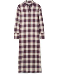 Elizabeth and James - Badgley Checked Cotton Maxi Dress - Lyst