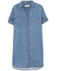 Madewell - Courier Cotton And Linen-blend Chambray Shirt Dress - Lyst