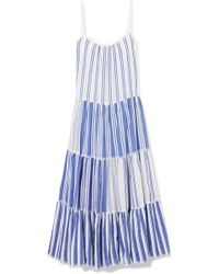 lemlem - Alfie Tiered Striped Cotton-voile Maxi Dress - Lyst