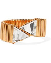 Kenneth Jay Lane - Gold-plated Crystal Bracelet Gold One Size - Lyst