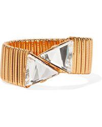 Kenneth Jay Lane - Gold-plated Crystal Bracelet - Lyst