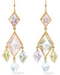 Marie-hélène De Taillac - 22-karat Gold Multi-stone Earrings - Lyst