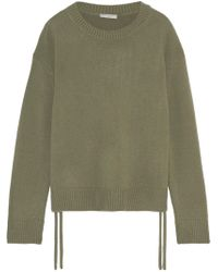 Vince - Lace-up Cashmere Sweater - Lyst