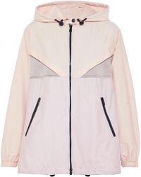Valentino - Hooded Panelled Cotton-blend Voile And Hammered-satin Jacket - Lyst