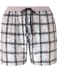 Ashish - Sequined Cotton Shorts - Lyst
