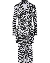 Balenciaga - Zebra-print Stretch-satin Dress - Lyst