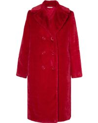 Alice + Olivia - Montana Double-breasted Faux Fur Coat - Lyst