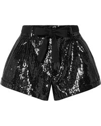 fdc244cb5c Saint Laurent - Belted Sequined Wool Shorts - Lyst
