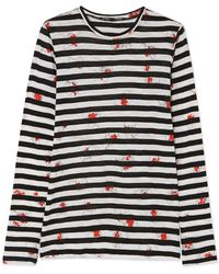 Proenza Schouler - Printed Cotton-jersey Top - Lyst