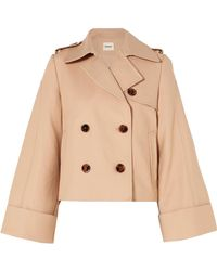 Khaite - Bianca Double-breasted Cotton-twill Jacket - Lyst