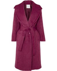 Agnona - Belted Alpaca And Wool-blend Coat - Lyst