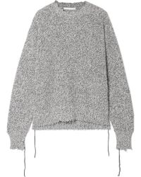 Helmut Lang - Distressed Knitted Jumper - Lyst