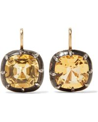 Fred Leighton - Collection 18-karat Gold, Silver And Citrine Earrings Gold One Size - Lyst