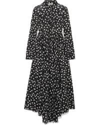 Jil Sander - Floral-print Chiffon Maxi Dress - Lyst