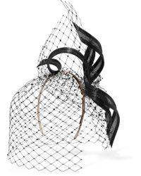 Philip Treacy - Buntal And Swarovski Crystal-embellished Veiled Headpiece - Lyst
