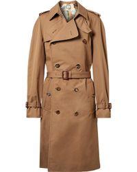 Gucci | Appliquéd Cotton-blend Gabardine Trench Coat | Lyst