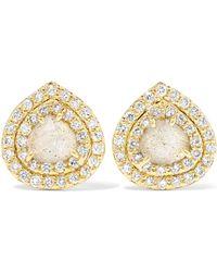 Kimberly Mcdonald | 18-karat Gold, Labradorite And Diamond Earrings | Lyst