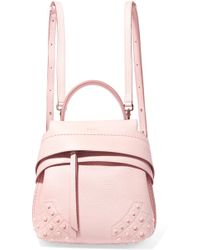 Tod's - Wave Mini Textured-leather Backpack - Lyst
