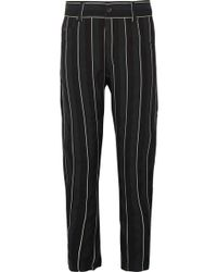 Haider Ackermann - Striped Cotton-twill Tapered Trousers - Lyst