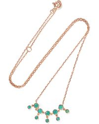 Pascale Monvoisin - Lara N°1 9-karat Rose Gold And Turquoise Necklace - Lyst