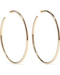Jennifer Fisher - Lilly Gold-plated Hoop Earrings Gold One Size - Lyst