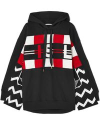 Stella McCartney - Wool Intarsia And Cotton-jersey Hoodie - Lyst