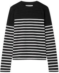 La Ligne - Aaa Lean Lines Striped Cotton-jersey Top - Lyst