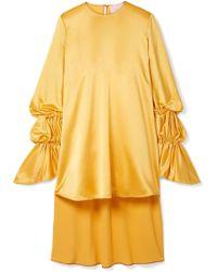 ROKSANDA - Rosina Oversized Hammered Silk-satin Blouse - Lyst