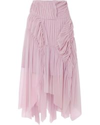 Preen By Thornton Bregazzi - Eulalia Pleated Tulle Midi Skirt - Lyst
