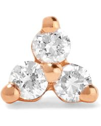 Maria Tash - Tiny 14-karat Rose Gold Diamond Earring - Lyst