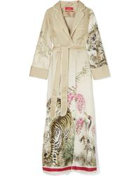 F.R.S For Restless Sleepers | Roda Printed Silk-twill Robe | Lyst