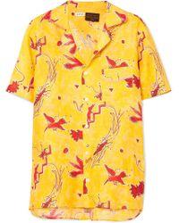 Loewe - + Paula's Ibiza Printed Linen Shirt - Lyst