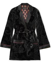 Etro - Satin-trimmed Printed Velvet Jacket - Lyst