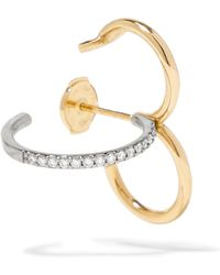 Charlotte Chesnais - Clover 18-karat Gold, Silver And Diamond Earring - Lyst