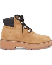 3.1 Phillip Lim - Dylan Shearling-lined Suede And Leather Ankle Boots - Lyst