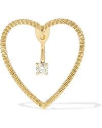 Yvonne Léon - 18-karat Gold Diamond Earring - Lyst