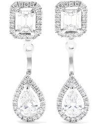 Messika - My Twin Toi & Moi 18-karat White Gold Diamond Earrings - Lyst