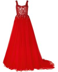 Jenny Packham - Adara Embellished Tulle Gown - Lyst