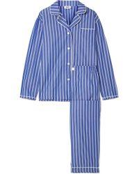 Sleepy Jones | Bishop Striped Cotton Pajama Set | Lyst