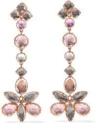 Larkspur & Hawk - Sadie Shoulder Cluster Rose Gold-dipped Quartz Earrings - Lyst