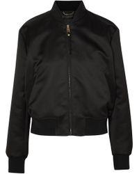 Versace - Embellished Satin Bomber Jacket - Lyst