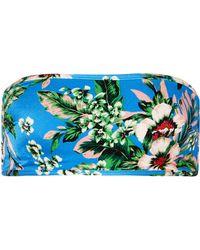 Diane von Furstenberg - Floral-print Bandeau Bikini Top - Lyst