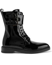 Paul Andrew - Landrey Patent-leather Ankle Boots - Lyst