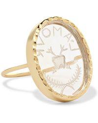 Pascale Monvoisin - L'amour 9-karat Gold Crystal Ring - Lyst