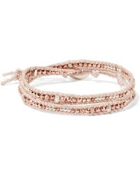Chan Luu - Gold And Silver-tone Beaded Wrap Bracelet - Lyst