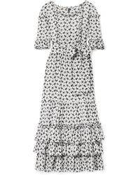 Lisa Marie Fernandez - January Ruffled Broderie Anglaise Cotton-voile Maxi Dress - Lyst